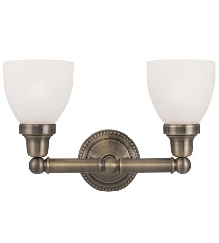 brass bathroom light. Livex 1022-01 Classic 2 Light 16 Inch Antique Brass Bath Wall In Satin Opal White Bathroom M