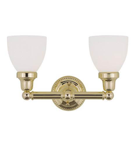 Livex Lighting Classic 2 Light Bath Light in Polished Brass 1022-02 photo