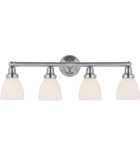 Livex 1024-91 Classic 4 Light 30 inch Brushed Nickel Bath Light Wall Light in Satin photo