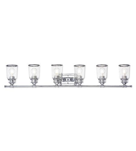 Livex 10516 05 Lawrenceville 6 Light 48 Inch Polished Chrome Vanity Wall Photo