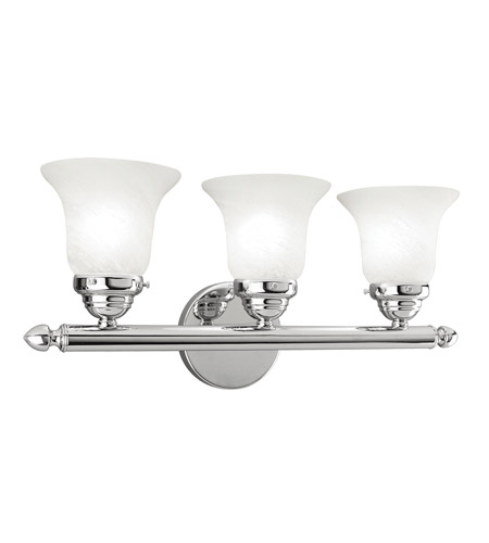 Livex 1063-05 Home Basics 3 Light 19 inch Polished Chrome Bath Light Wall Light photo