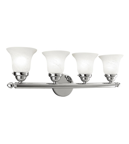 Livex 1064-05 Home Basics 4 Light 24 inch Polished Chrome Bath Light Wall Light photo