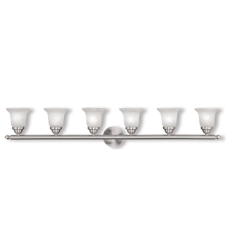 Livex Lighting Home Basics 6 Light Bath Light in Brushed Nickel 1066-91 photo