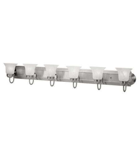 Livex 1076-91 Home Basics 6 Light 48 inch Brushed Nickel Bath Light Wall Light photo