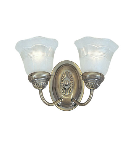 Livex Victoria 2 Light Bath in Antique Brass 1132H-01 photo