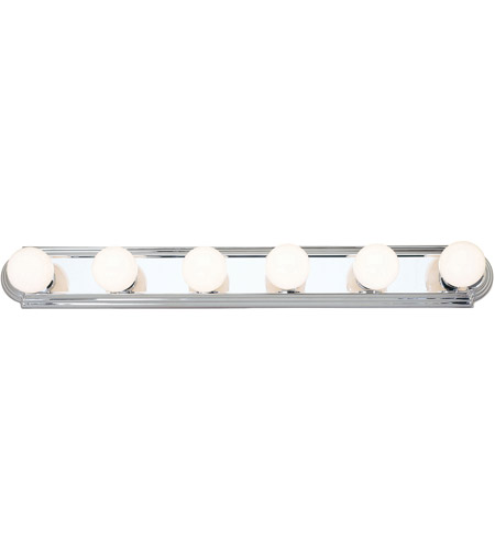 Livex 1146-05 Bath Basics 6 Light 36 inch Polished Chrome Bath Light Wall Light photo
