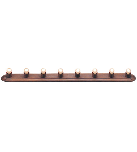 Livex Lighting Bath Basics 8 Light Bath Light in Weathered Brick 1148-18 photo