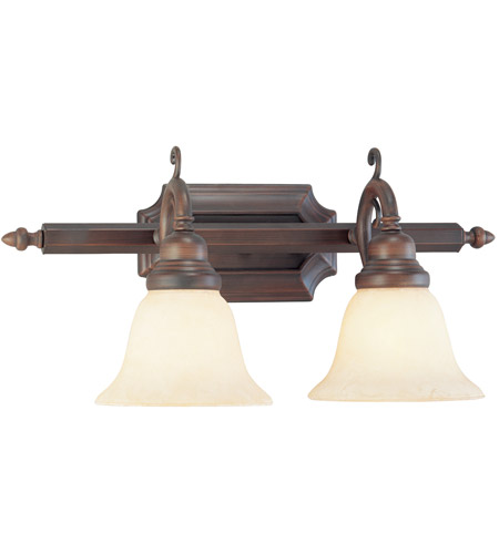 Livex 1192-58 French Regency 2 Light 19 inch Imperial Bronze Bath Light Wall Light photo