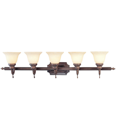 Livex 1195-58 French Regency 5 Light 41 inch Imperial Bronze Bath Light Wall Light photo