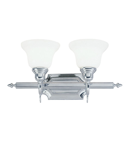 Chrome French Regency Bathroom Vanity Lights