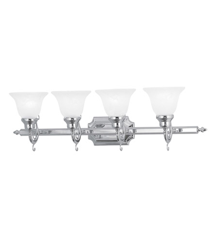 Livex Lighting French Regency 4 Light Bath Light in Chrome 1284-05 photo