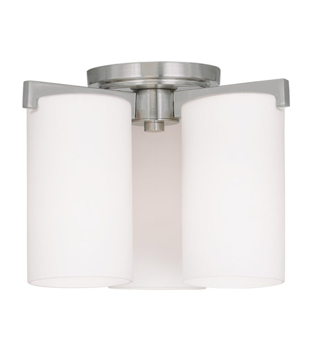Livex 1324-91 Astoria 3 Light 11 inch Brushed Nickel Ceiling Mount Ceiling Light photo