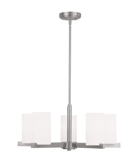Livex Lighting Astoria 5 Light Chandelier in Brushed Nickel 1325-91 photo