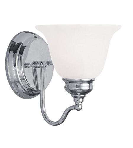 Livex Lighting Essex 1 Light Bath Light in Polished Chrome 1351-05 photo