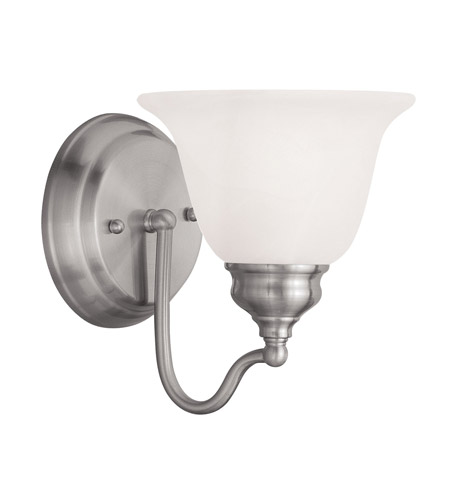 Livex Lighting Essex 1 Light Bath Light in Brushed Nickel 1351-91 photo