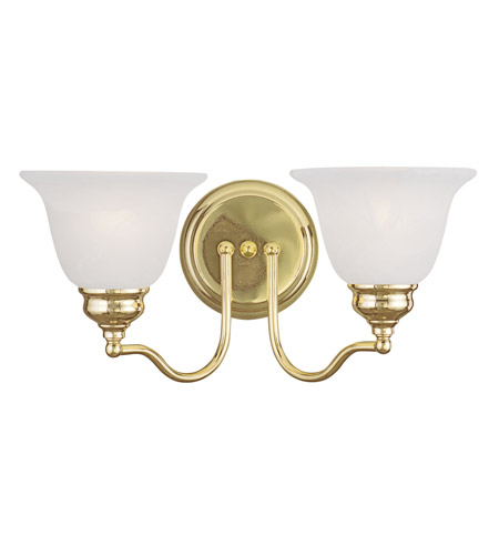 Livex 1352-02 Essex 2 Light 15 inch Polished Brass Bath Light Wall Light photo