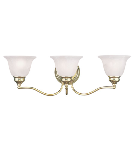 Livex Lighting Essex 3 Light Bath Light in Polished Brass 1353-02 photo