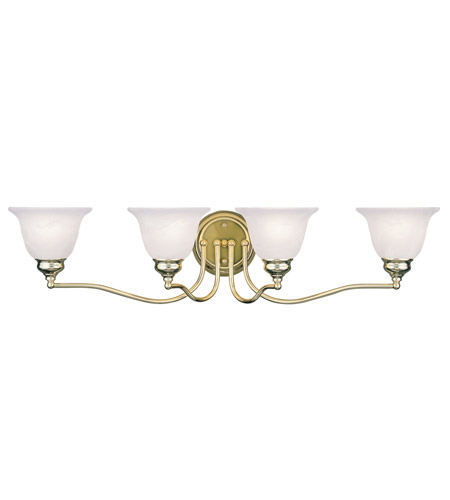 Livex Lighting Essex 4 Light Bath Light in Polished Brass 1354-02 photo