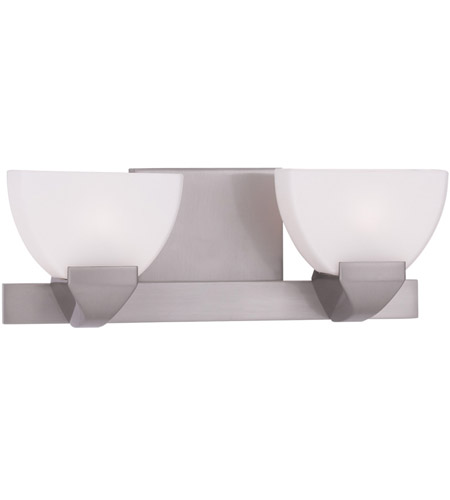 Livex 1362-91 Gemini 2 Light 13 inch Brushed Nickel Bath Light Wall Light photo
