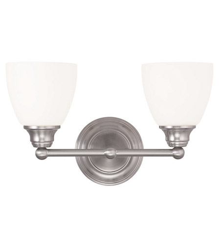 Livex 13662 91 Somerville 2 Light 15 Inch Brushed Nickel Vanity Light Wall  Light