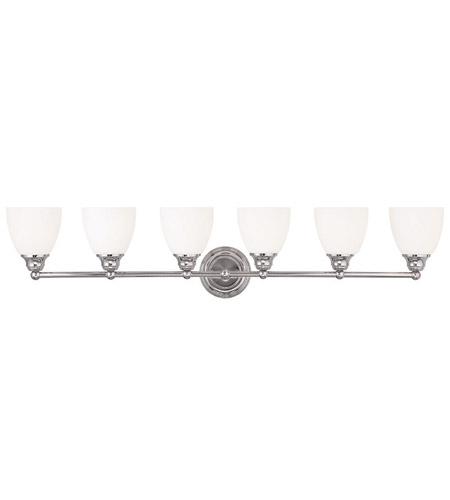 Livex 13666 05 somerville 6 light 42 inch polished chrome vanity livex 13666 05 somerville 6 light 42 inch polished chrome vanity light wall light mozeypictures Images