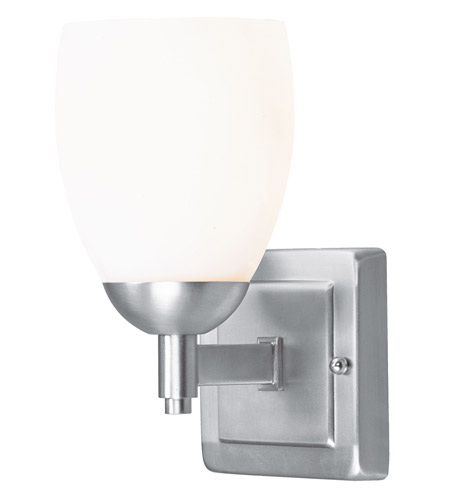Livex 1401-91 Bloomfield 1 Light 5 inch Brushed Nickel Bath Light Wall Light photo