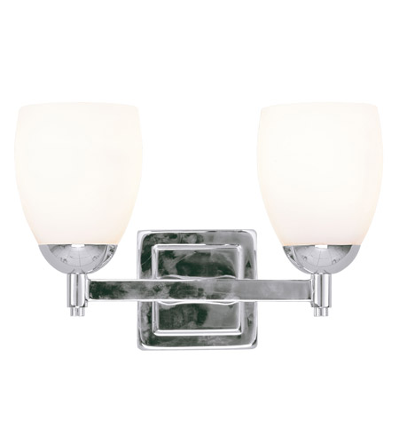 Livex Lighting Bloomfield 2 Light Bath Light in Polished Chrome 1402-05 photo