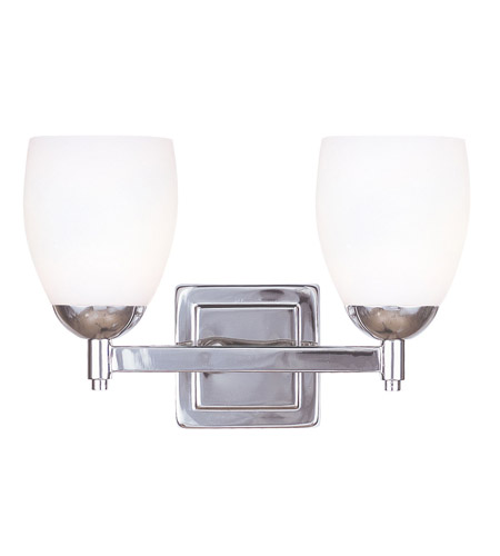 Livex Lighting Bloomfield 2 Light Bath Light in Polished Nickel 1402-35 photo