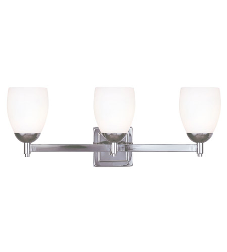 Livex Lighting Bloomfield 3 Light Bath Light in Polished Nickel 1403-35 photo