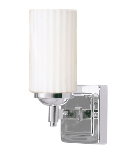 Livex Lighting Madison 1 Light Bath Light in Chrome 1421-05 photo