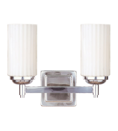 Livex Lighting Madison 2 Light Bath Light in Polished Nickel 1422-35 photo