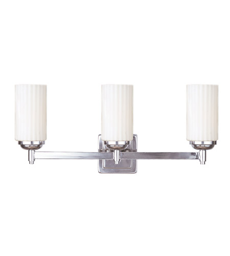 Livex Lighting Madison 3 Light Bath Light in Polished Nickel 1423-35 photo
