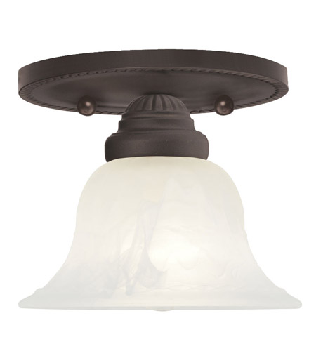 Livex Lighting Edgemont 1 Light Ceiling Mount in Bronze 1530-07 photo