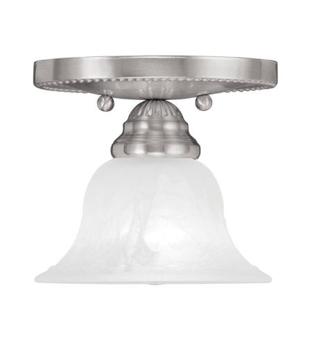 Livex 1530-91 Edgemont 1 Light 7 inch Brushed Nickel Ceiling Mount Ceiling Light photo