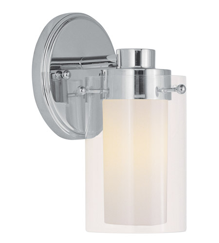 Livex Lighting Manhattan 1 Light Bath Light in Chrome 1541-05 photo