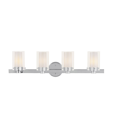 Livex 1544-05 Manhattan 4 Light 32 inch Polished Chrome Bath Light Wall Light photo