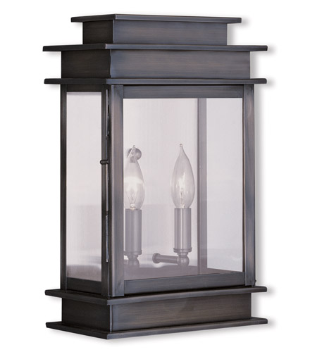 Livex Lighting Princeton 2 Light Outdoor Wall Lantern in Vintage Pewter 2016-29 photo