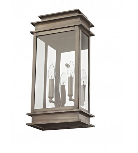 Livex Lighting Princeton 2 Light Outdoor Wall Lantern in Vintage Pewter 2018-29 photo