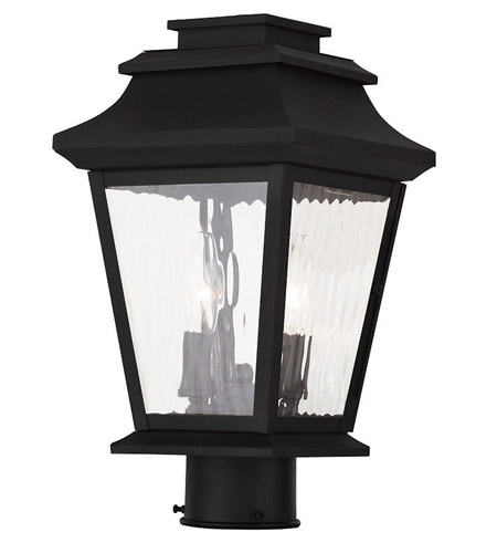 Livex hathaway 2 light outdoor post light in black 20234 04 for Hathaway furniture new york