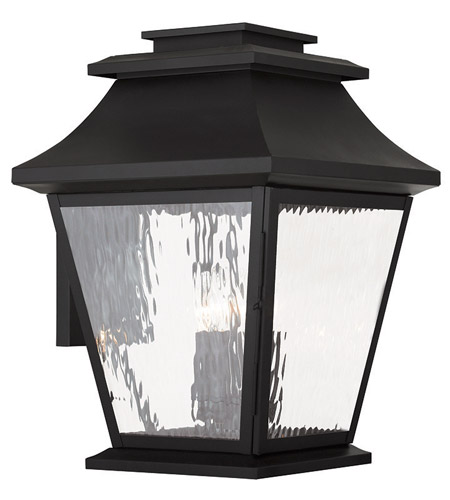 Livex 20240 04 hathaway 4 light 19 inch black outdoor wall for Hathaway furniture new york