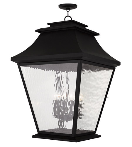 Livex 20253 04 hathaway 6 light 21 inch black outdoor for Hathaway furniture new york