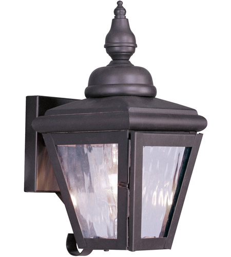 Livex Lighting Cambridge 1 Light Outdoor Wall Lantern in Bronze 2030-07 photo