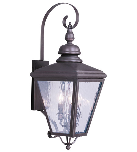Livex 2033-07 Cambridge 3 Light 32 inch Bronze Outdoor Wall Lantern photo