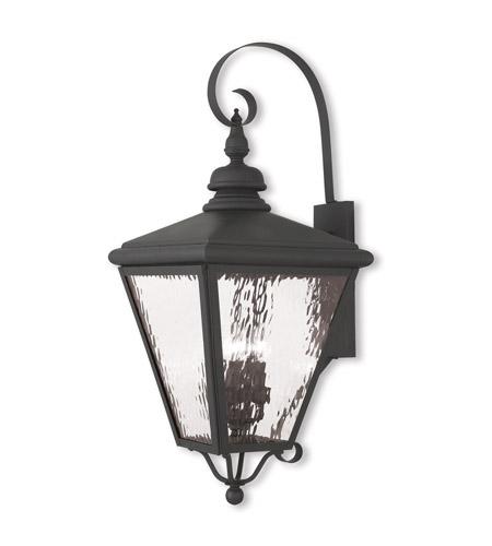 Cambridge 4 Light 35 Inch Black Outdoor Wall Lantern