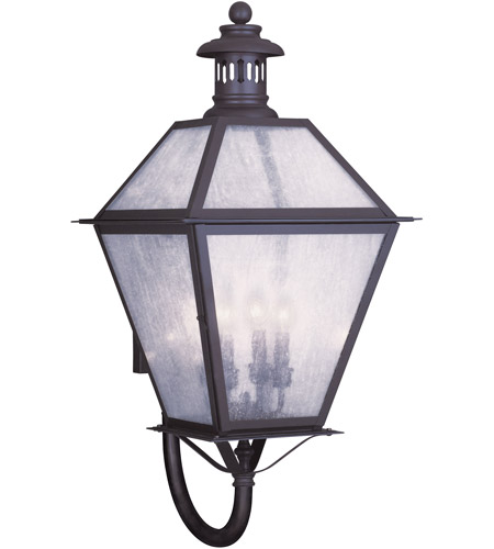 Livex Lighting Waldwick 4 Light Outdoor Wall Lantern in Bronze 2050-07 photo