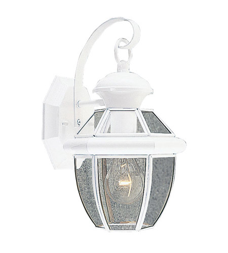 Livex 2051-03 Monterey 1 Light 13 inch White Outdoor Wall Lantern photo