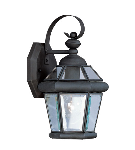 Livex Lighting Georgetown 1 Light Outdoor Wall Lantern in Black 2061-04 photo
