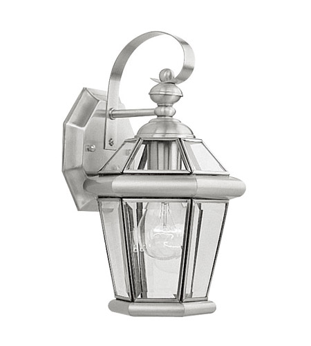 Livex 2061-91 Georgetown 1 Light 11 inch Brushed Nickel Outdoor Wall Lantern photo
