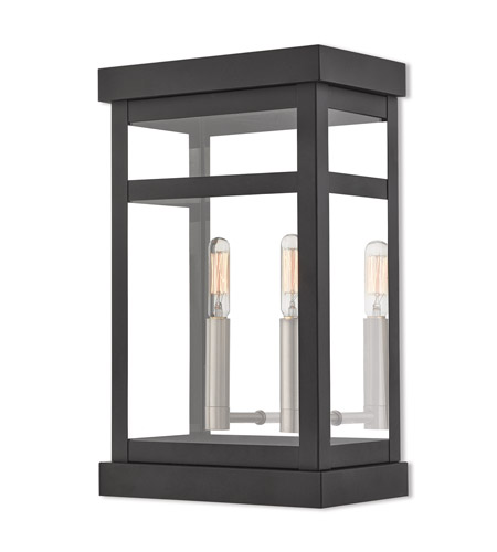 Livex Lighting 20705-04 Hopewell 2 Light 15 inch Black Outdoor Wall Lantern photo