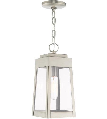 Oslo 1 Light 6 Inch Brushed Nickel Pendant Lantern Ceiling